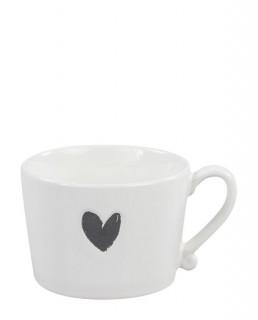 Bastion Collection Tasse groß 'Heart' black