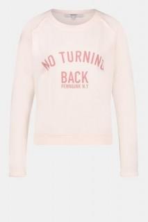 Penn&Ink Sweater rosé Textprint