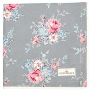 GreenGate Stoffserviette Marie pale grey