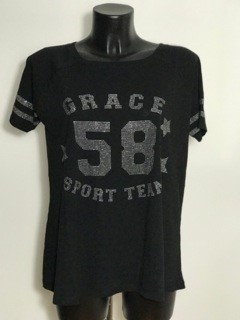Grace T-Shirt mit Nieten black