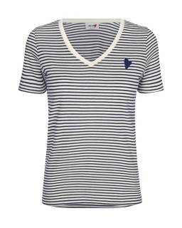 MOS MOSH - Shirt   Kenia Stripe dark blue