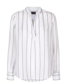 MOS MOSH Bluse Alana Stripe - white