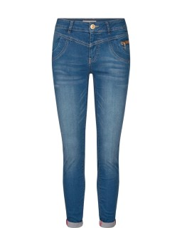 MOS MOSH Hose Sharon Split Satin Jeans dark blue
