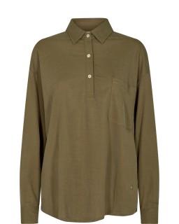 MOS MOSH Bluse Cael Jersey Shirt moss