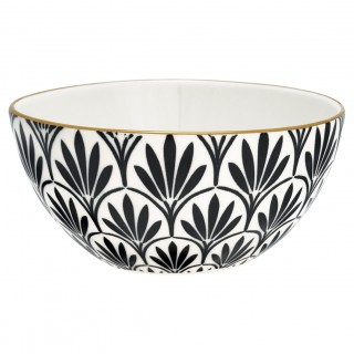 GreenGate Bowl Victoria black w/gold medium