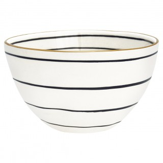 GreenGate Bowl Sally black/gold small