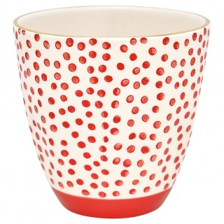GreenGate Becher Dot red with gold
