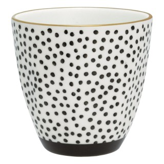 GreenGate Latte Cup Dot black/gold