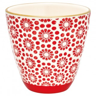 GreenGate Becher Kelly red with gold