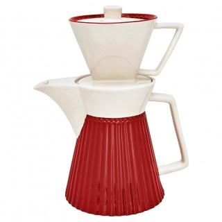 GreenGate Kaffekanne mit Filter Alice red