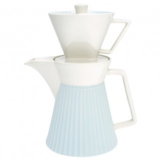 GreenGate Kaffekanne mit Filter Alice pale blue