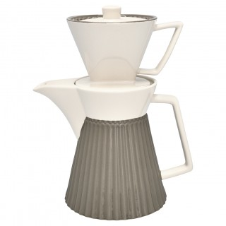 GreenGate Kaffekanne mit Filter Alice warm grey