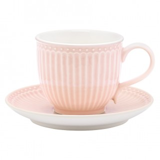 GreenGate Tasse/Untertasse Alice pale pink