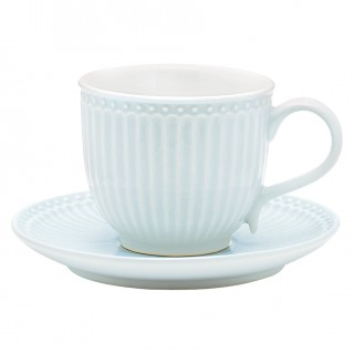 GreenGate Tasse/Untertasse Alice pale blue
