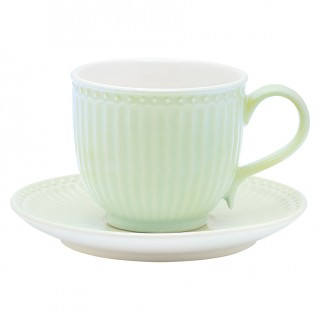 GreenGate Tasse/Untertasse Alice pale green