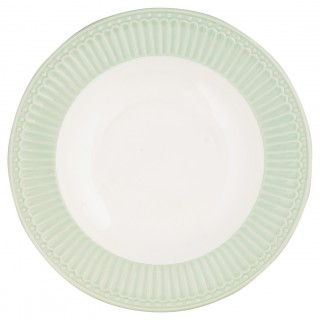 GreenGate Suppenteller Alice pale green