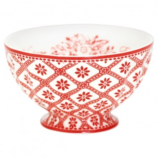 GreenGate French Bowl Bianca red medium