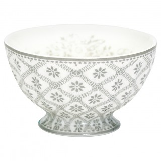 GreenGate French Bowl Bianca warm grey medium