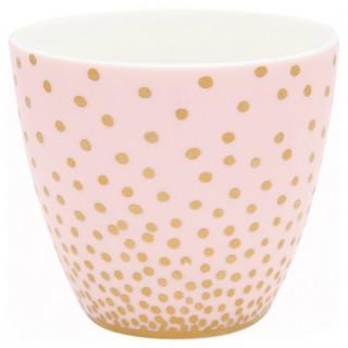 GreenGate Latte Cup Gold Spot peach
