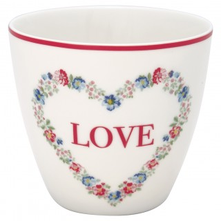 GreenGate Latte Cup Heart Live white