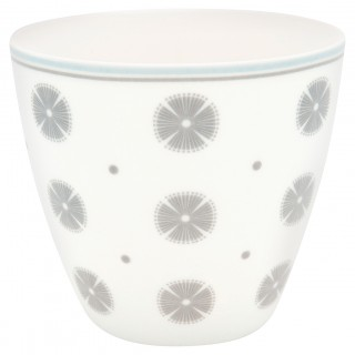 GreenGate Latte Cup Saga white