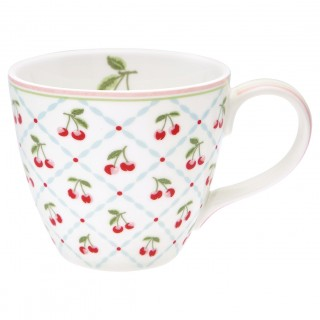GreenGate Henkelbecher Cherie white
