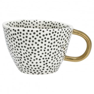 GreenGate Henkelbecher Dot black w/gold