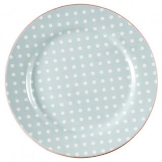 GreenGate Frühstücksteller Spot pale blue