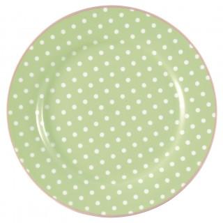 GreenGate Frühstücksteller Spot pale green