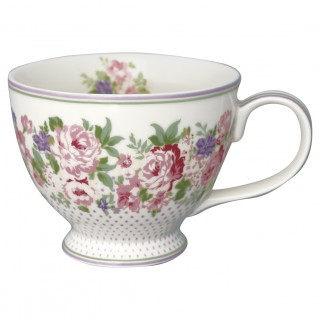 GreenGate Teetasse Rose white