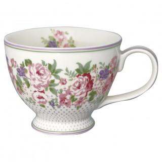 GreenGate Teetasse Rose white
