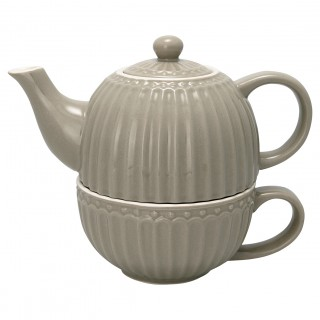 GreenGate Tea for one Alice warmgrey