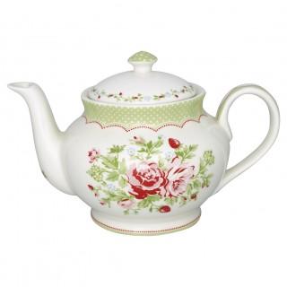 GreenGate Teekanne rund Mary white