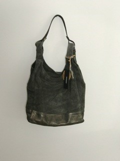 Anokhi Hobo-Bag CHEYENNE mit Pouch Suede Antra