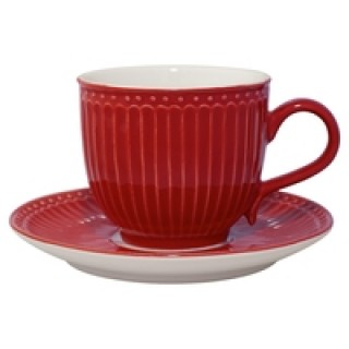 GreenGate Tasse/Untertasse Alice red
