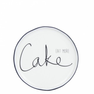 Bastion Collection Teller 'Eat more cake' black