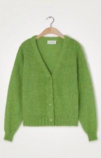 American Vintage Strickjacke Vogbay grün