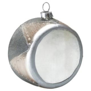 GreenGate Weihnachtsschmuck Trommel silver